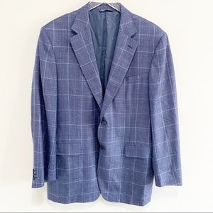 Canali plaid sports coat blazer Made in Italy 42R
